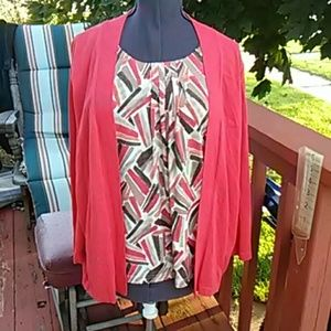 Colorful 2pc look top